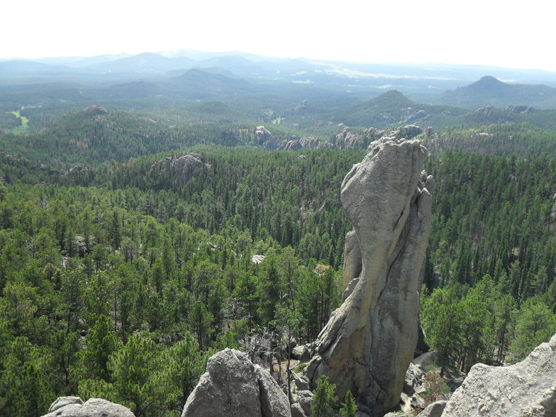 view from the summit of moonlight rib looking toward sore thumb.