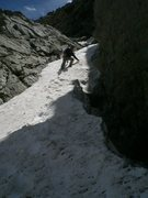 Rock Climbing Photo: The ramp on El Camino de Cabra, Late June 2010