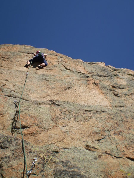 Nice, sunny, clean rock.<br> <br> Wish it would have continued another few hundred feet.