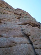 Rock Climbing Photo: There is a cool hueco 2/3'rd the way up.  The rout...