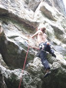 Rock Climbing Photo: Getting to the undercling here and settling on it ...