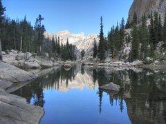 Rock Climbing Photo: Saddleback Lake