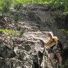 That's me, 'Pork Barrel Brad' below my newest climb. Photographer Taylor Davis