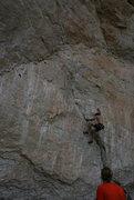 Rock Climbing Photo: T. Chrudinsky liebacking up 'Killer'. Photo: L. Vo...
