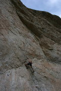 Rock Climbing Photo: T. Chrudinsky moves through the gaston move on 'Ki...