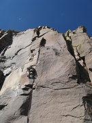 Rock Climbing Photo: gorillas in the crack, .11a.