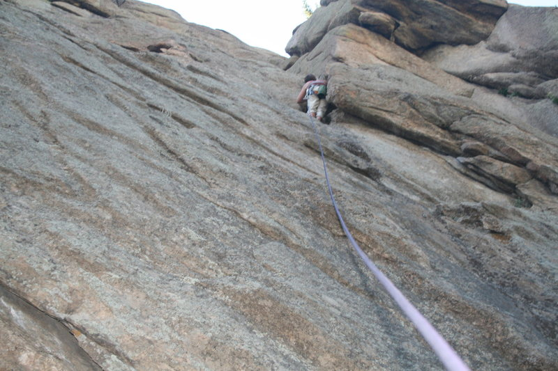 Kelley through the undercling crux.