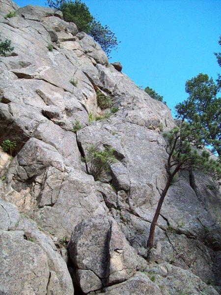 Rock Climbing Photo: More mine hole.