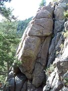 Rock Climbing Photo: This is actually a picture of Cow Patty Crack. Mr....