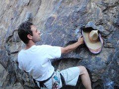 Rock Climbing Photo: Sombrero start Three Giant Steps