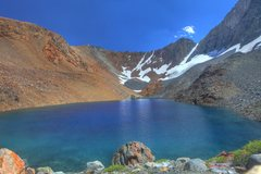 Rock Climbing Photo: Dana Lake, with Mt Dana rearing up on the right si...