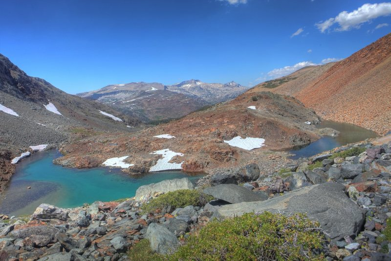 View down the upper reaches of Glacier Canyon. from Dana Lake