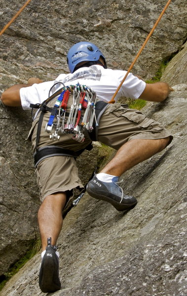 Rock Climbing Photo: Someone i met while climbing square ledge, doing t...