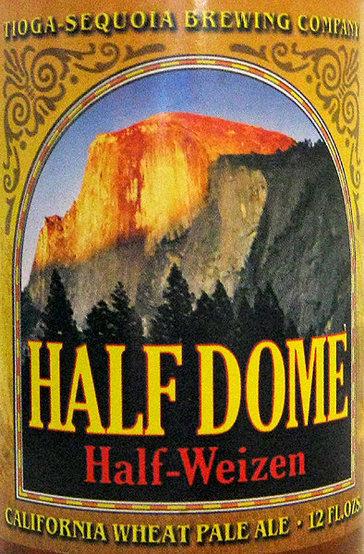 Half Dome Half-Wiezen. Half wheat beer, half pale ale.<br> Photo by Blitzo.