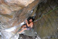 Rock Climbing Photo: Mike chimneying up heaven - not the difference in ...