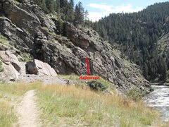Rock Climbing Photo: Location of Halloween, just down the short, easy t...