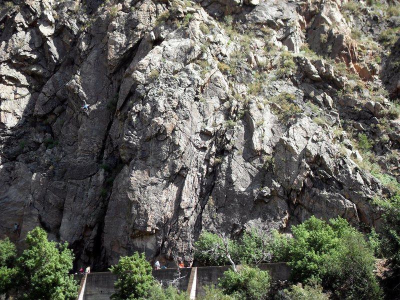 Rock Climbing Photo: Canal Zone climbers, Aug. 14, 2010.