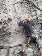 Rock Climbing Photo: Cali climber w/o a partner we met at Promontory. H...
