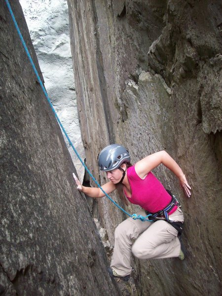 "Rock Climbing Photo: Veronica M. from Durango chimneys out of ""oce..."