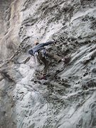 Rock Climbing Photo: Humboldt Current (5.10a) with first bolt clipped. ...