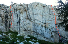 Dike Wall, East Face <br />August 5pm
