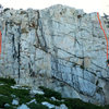 Dike Wall, East Face<br> August 5pm