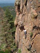 Rock Climbing Photo: Fun crimps in a perfect setting.
