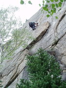 Rock Climbing Photo: Quentin Lauradunn moving left off of the Peruvian ...
