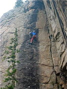 Rock Climbing Photo: The final crux. From here, you move left and up to...