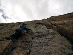 Rock Climbing Photo: Jordon on Forrest Finish - Saturday, August 14th.