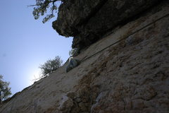 Rock Climbing Photo: Me sending Aerial Solution in good style.  Got the...