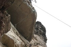 Rock Climbing Photo: Number 1 Super Bunny runs it out and sends the roo...
