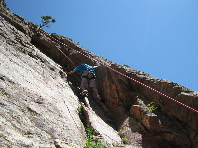 Nick's first time outdoor climbing on Recon.