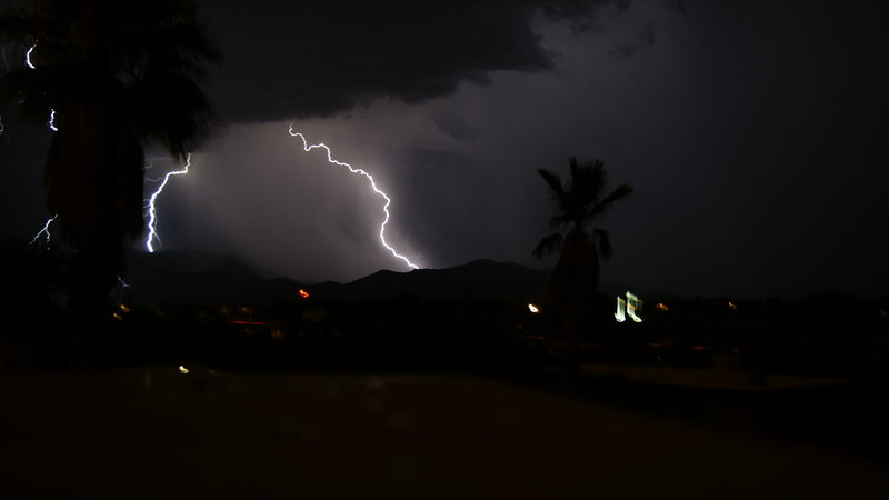 Part of the wonderful light show over the Catalina's