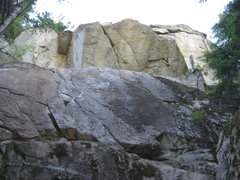 Rock Climbing Photo: looking up at the roof from the ground