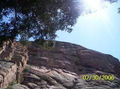 Rock Climbing Photo: Scott working on Triangulation (5.12c) on the Main...