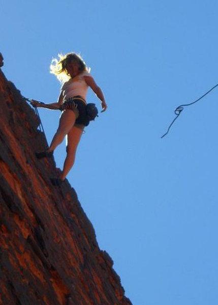 Rock Climbing Photo: Last of the morning shade at Panty Wall.