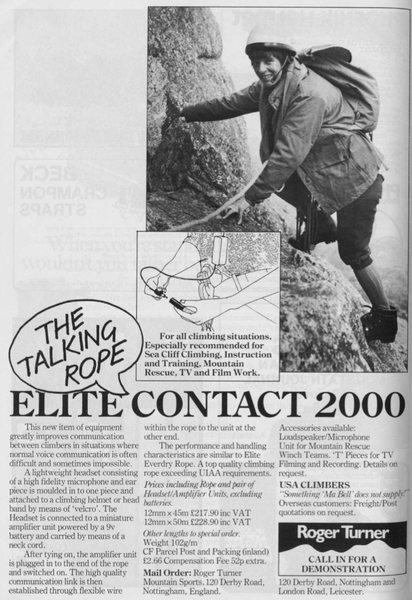 "Elite Contact 2000 ""Talking Rope"""
