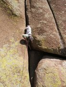 Rock Climbing Photo: Getting into the meat of the climb.