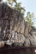 Rock Climbing Photo: Start in water and traverse to the right!