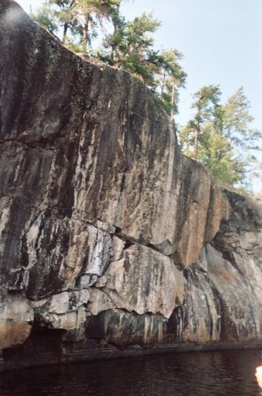Rock Climbing Photo: Left side of the giant crack, up up & to the right...