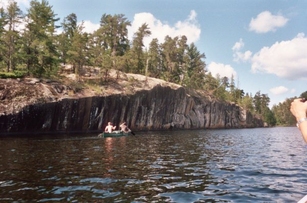 Rock Climbing Photo: View from across the lake