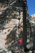 Rock Climbing Photo: Nathan's little sister on Easy Crack 5.8. Belayed ...
