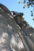 Rock Climbing Photo: Albert on Easy Crack 5.8