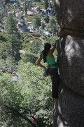 Rock Climbing Photo: Marina on Pressure Drop 5.10b