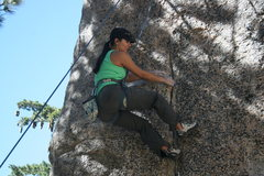 Rock Climbing Photo: Marina on Pressure Drop 5.10b