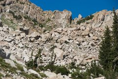 Rock Climbing Photo: One of the zones in the Abbey...  the upper west e...