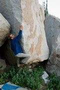 Rock Climbing Photo: Hummingbird arete, v8,  this thing is great.  A co...