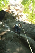 Rock Climbing Photo: A friend of mine climbing on Anastasia at the crux...