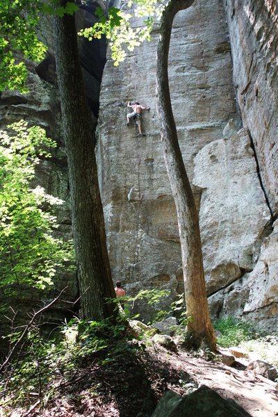 Bryan Ferris sending Random Precision 11b. photo: Joseph Lascurain